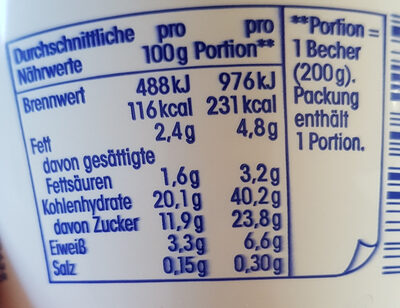 Milchreis Schoko - Nährwertangaben - de