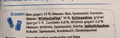 Reis-Wildlachs Pfanne - Zutaten - de