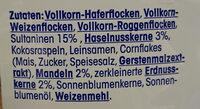 Trauben-Nuss-Müsli - Ingredients - de