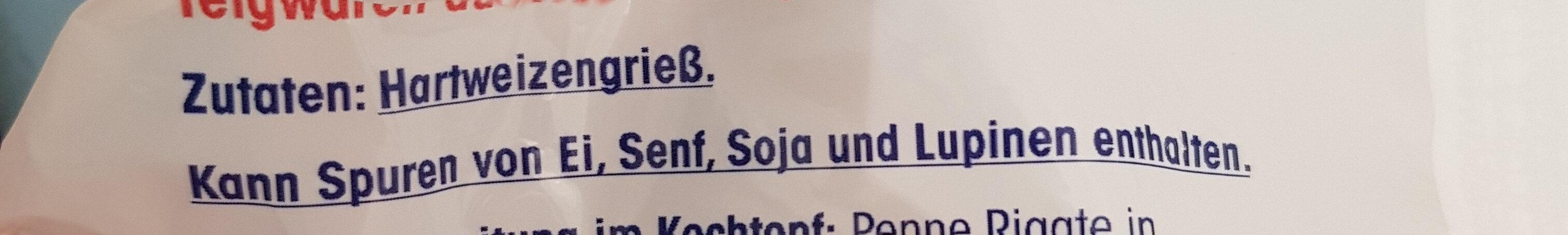 Penne Rigate - Ingredients - de