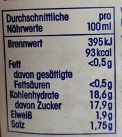 Ketchup - Nutrition facts - en