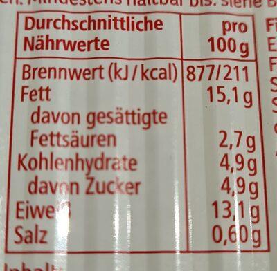 Heringsfilets in Tomatensauce - Informations nutritionnelles - de