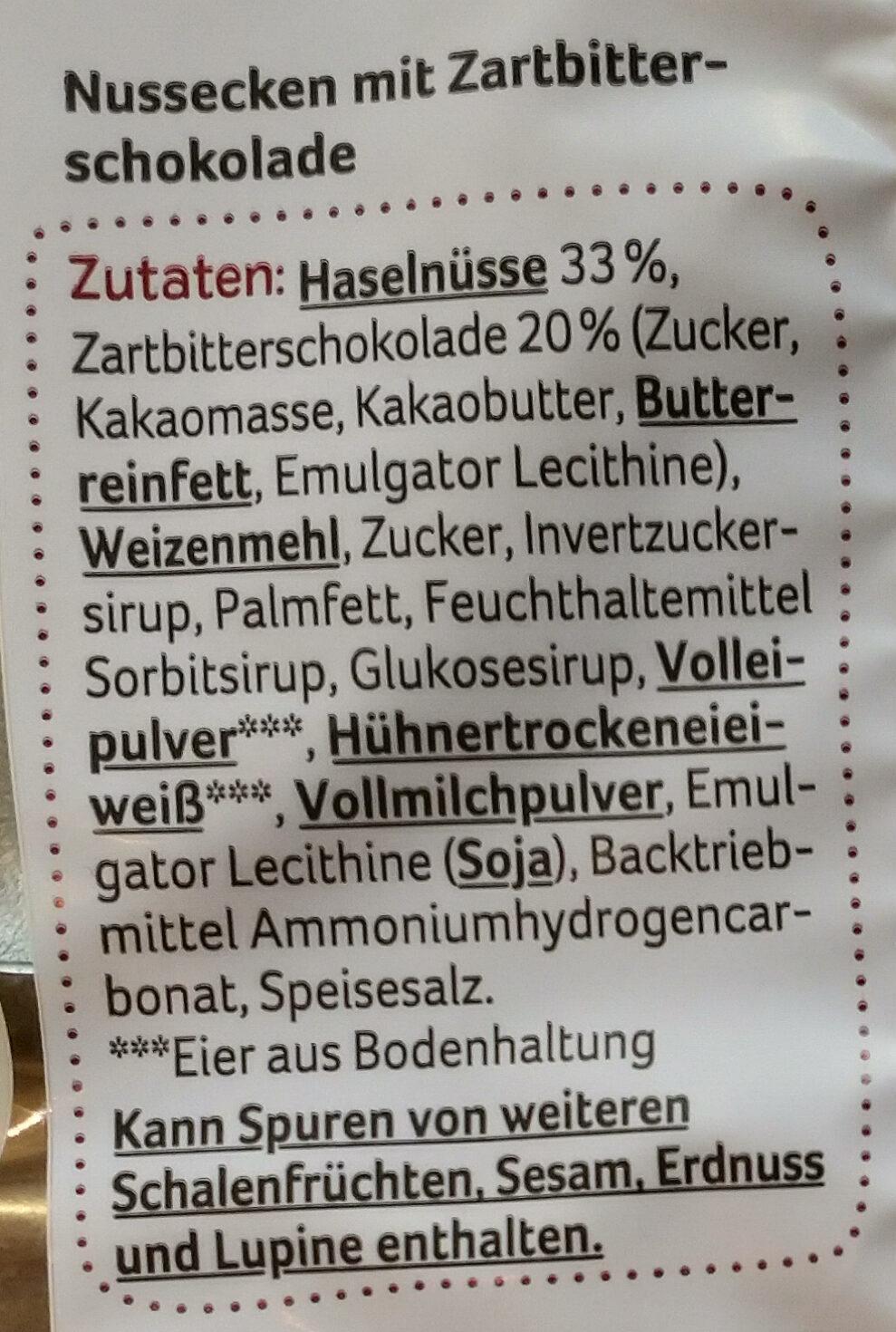 Nussecken - Ingrédients - de