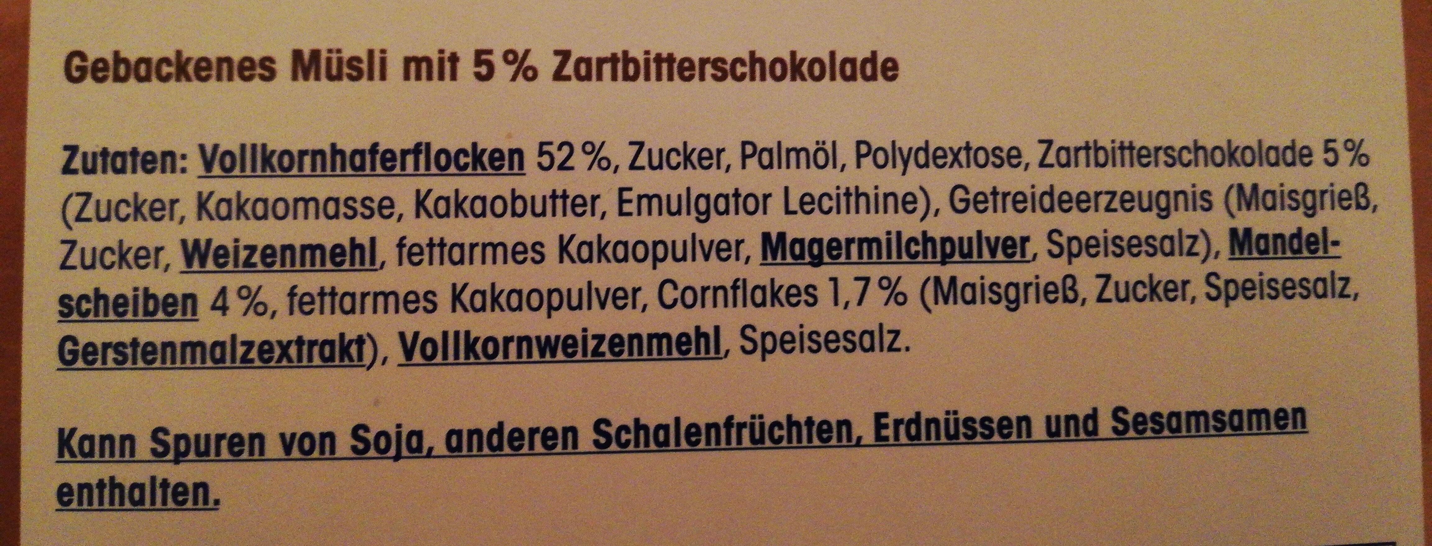 Knusper Müsli schoko - Ingredients - de