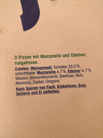 Steinofen Pizza Margherita - Zutaten - de