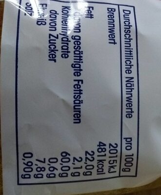 Tortilla Chips mit Salz - Nutrition facts - de