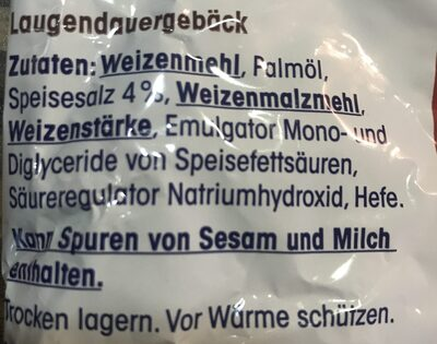 Ja mini Brezeln mit salz - Ingredients - de