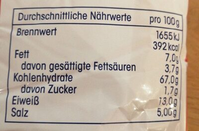 Ja mini Brezeln mit salz - Nutrition facts
