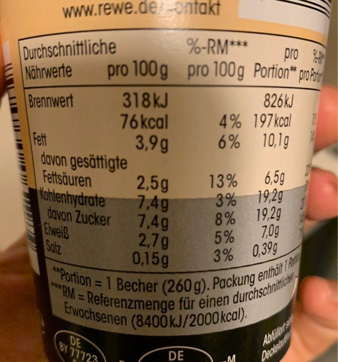 Latte Macchiato - Nutrition facts - de