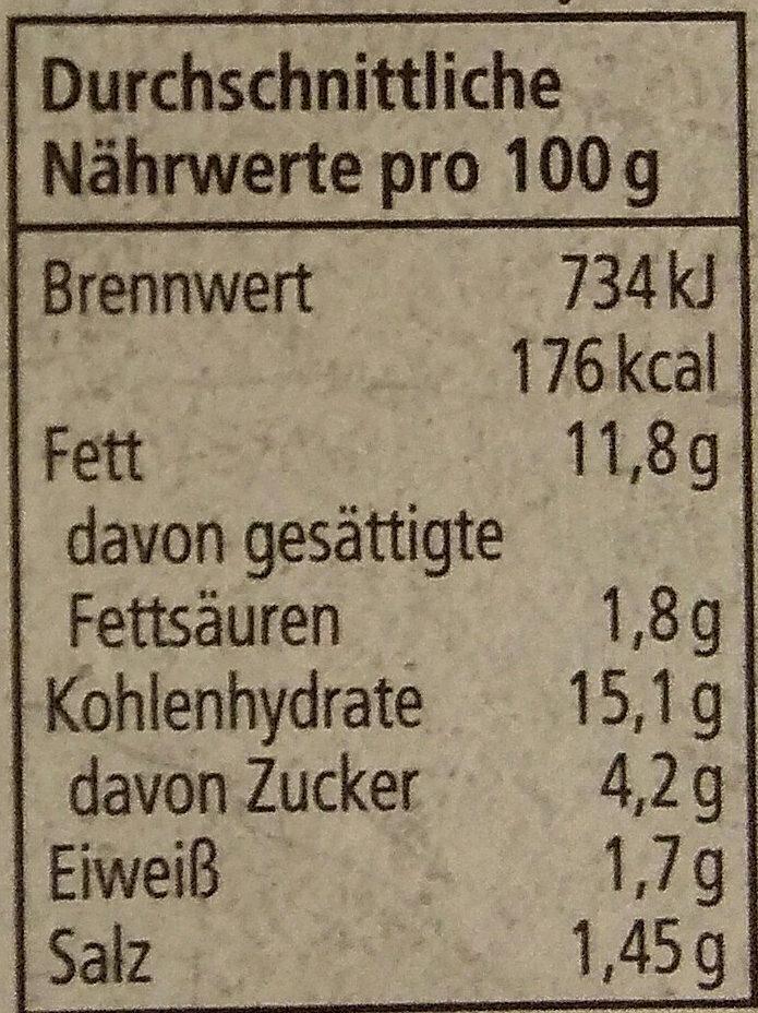 Kartoffelsalat - Nutrition facts