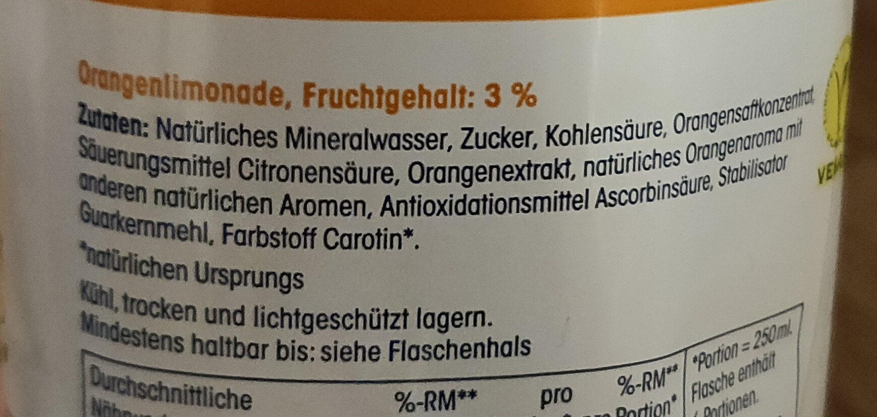 Orangen-Limonade - Ingredients - de