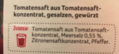 Tomatensaft - Zutaten - de