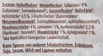 Bircher Müsli - Ingredients - de