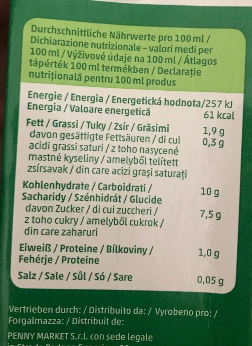 Avena drink - Informations nutritionnelles