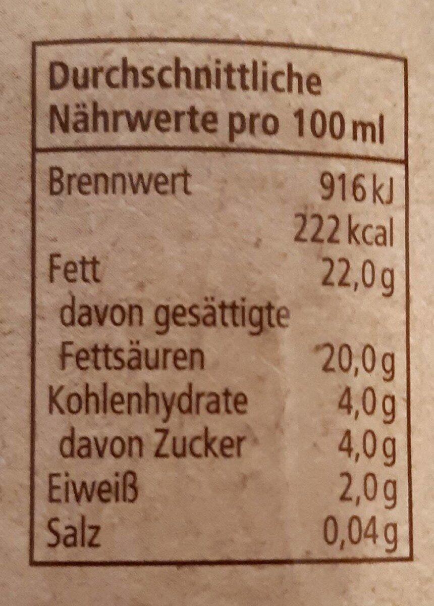 Kokosmilch - Nutrition facts - en