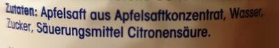 Apfelnektar - Ingredients - de