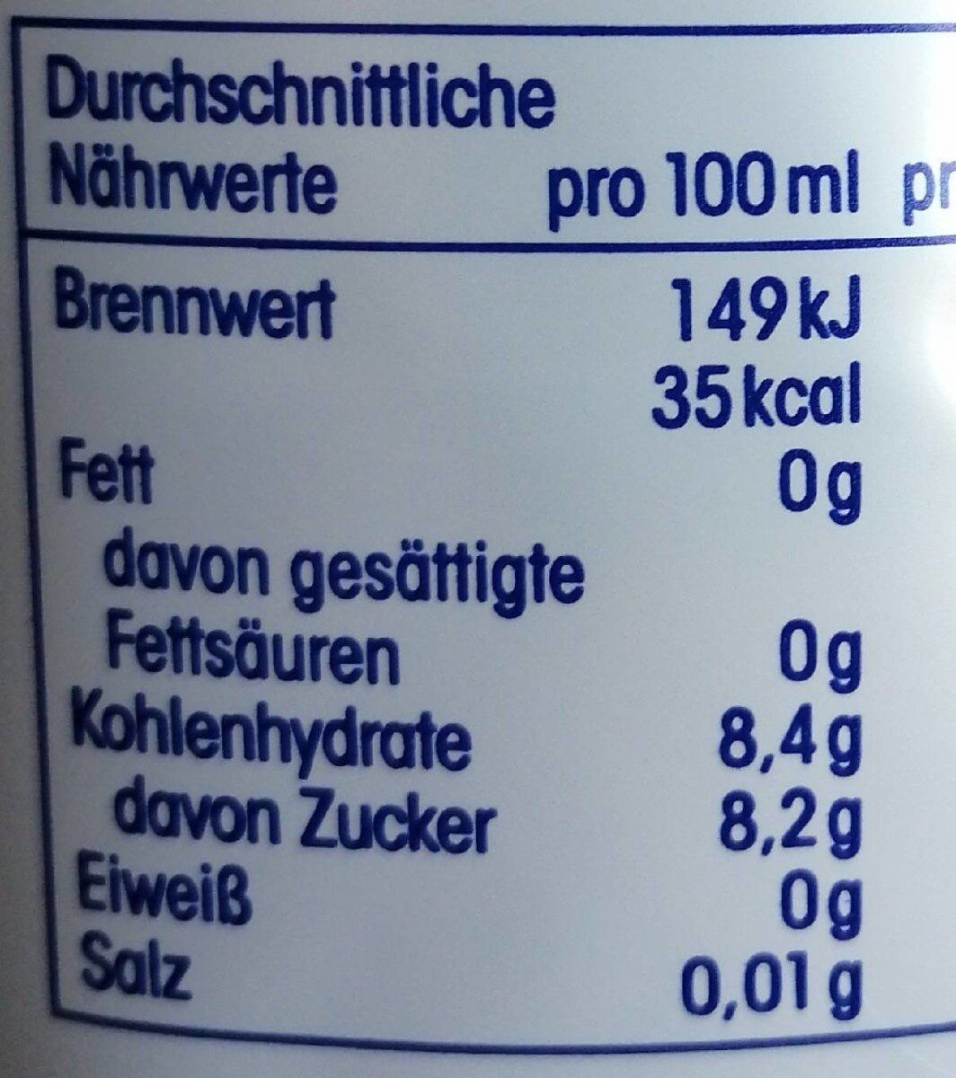 Apfelnektar - Nutrition facts - de