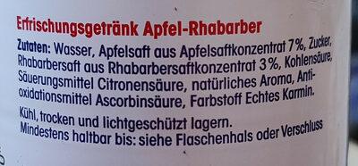 Erfrischungsgetränk Apfel-Rhabarber - Ingredients - de