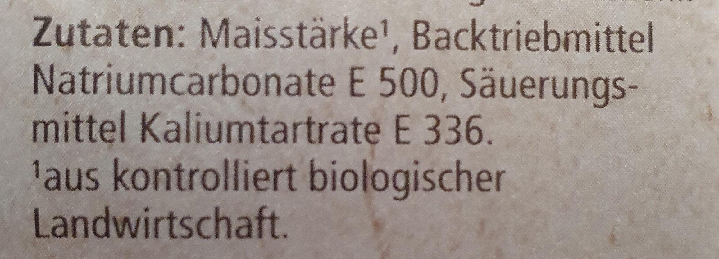 Reinweinstein Backpulver (REWE Bio) - Ingredienti - de