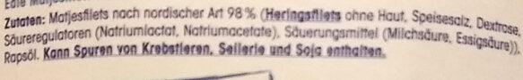 Edle Matjesfilets nach nordischer Art - Ingredients - de