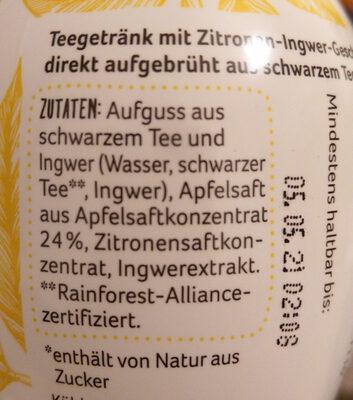 Rewe Beste Wahl Tea & Fruit Zitronen-Ingwer-Geschmack - Ingredienti - de