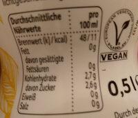 Rewe Beste Wahl Tea & Fruit Zitronen-Ingwer-Geschmack - Valori nutrizionali - de