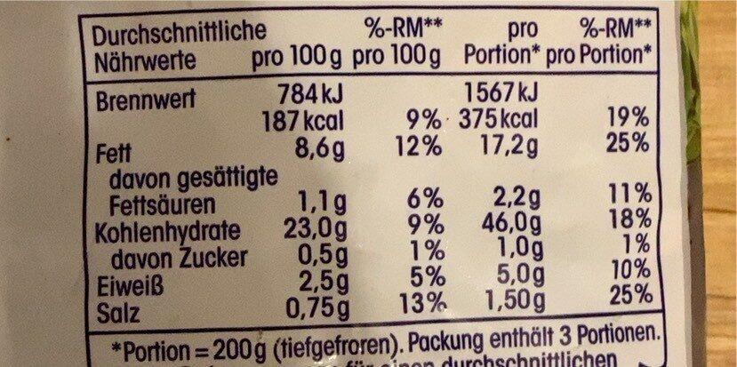 Criss cross pommes - Nutrition facts - de