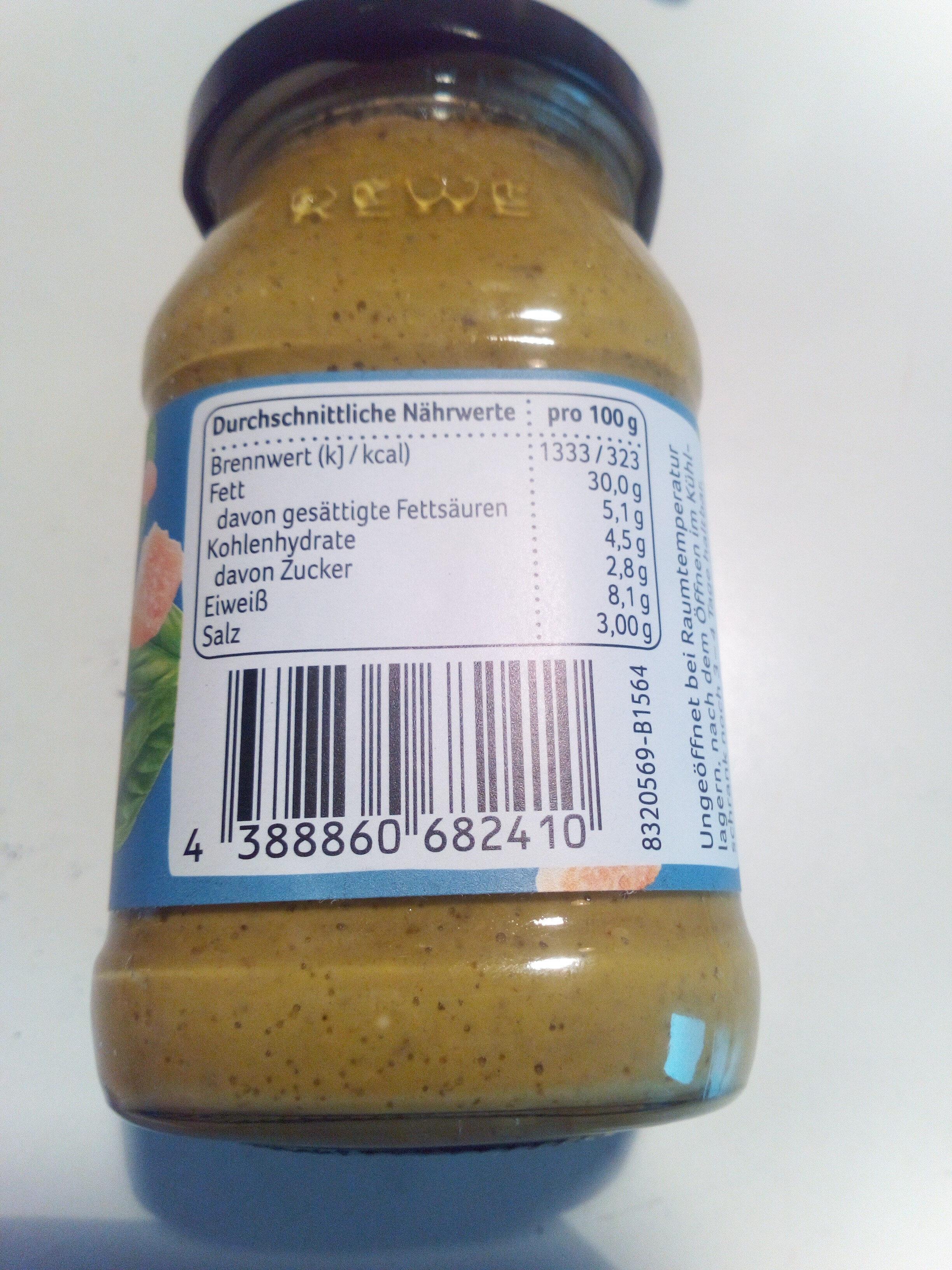 Pesto Alla Genovese mit Basilikum & Käse - Informations nutritionnelles - de