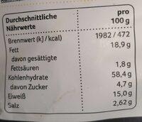 Rewe Beste Wahl Linsen Chips - Nährwertangaben - de