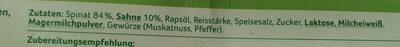 Rahmspinat - Ingrédients - de