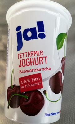 ja! Fettarmer Joghurt Schwarzkirsche - Product - de