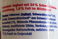 ja! Fettarmer Joghurt Schwarzkirsche - Ingredients - de