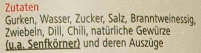 Spreewälder Gurken Chiligurken - Ingredients