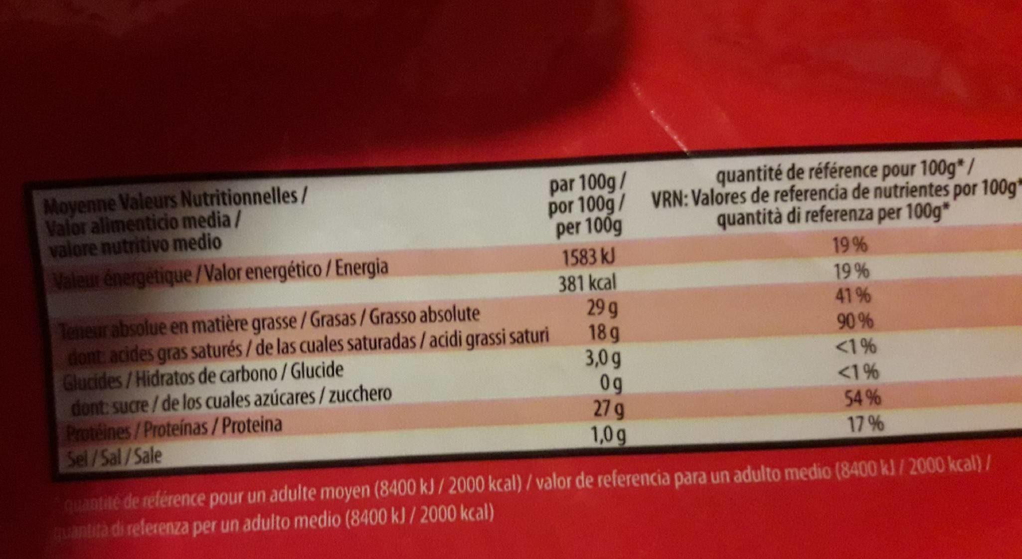 Emmentaler Râpé Vallée D'Henri 1 KG, 1 Pièce - Nutrition facts - fr