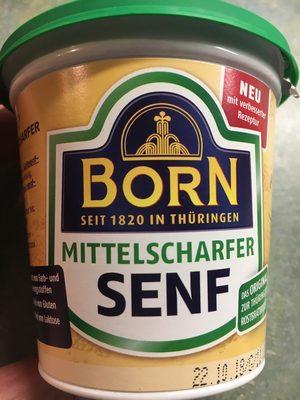 Senf mittelscharf Born - Produit - de