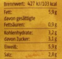 Senf mittelscharf Born - Informations nutritionnelles - de