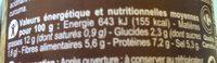 Moutarde à l'ancienne - Nutrition facts - fr