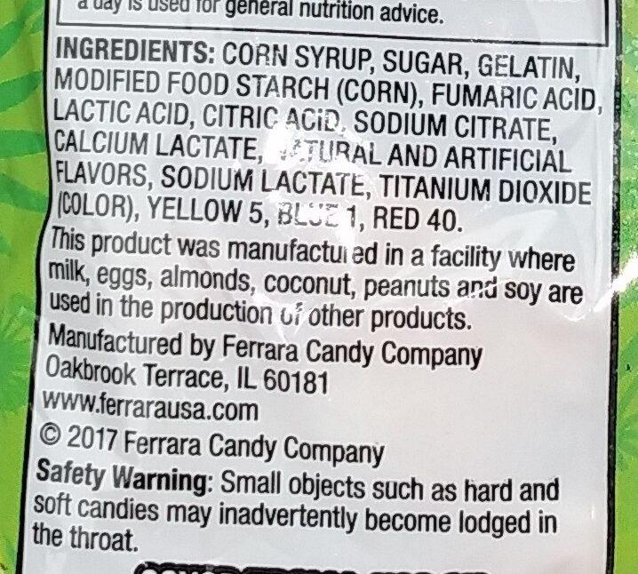 trolli sour brite sloths - Ingredients