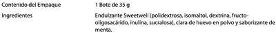 Merengues sabor a menta Sweetwell - Ingrédients - es