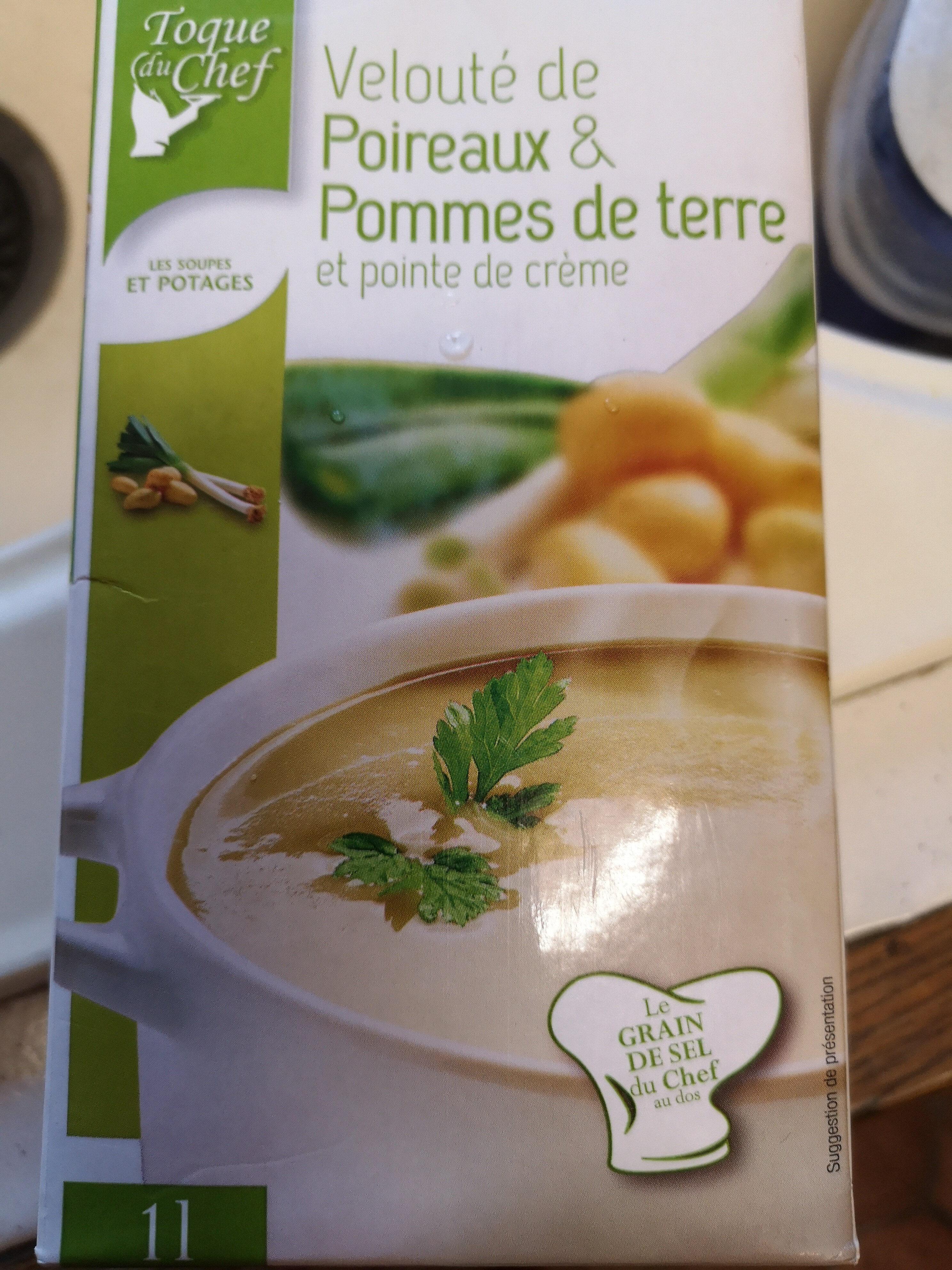 velouté de poireaux & pommes de terre et pointe de crème - Product