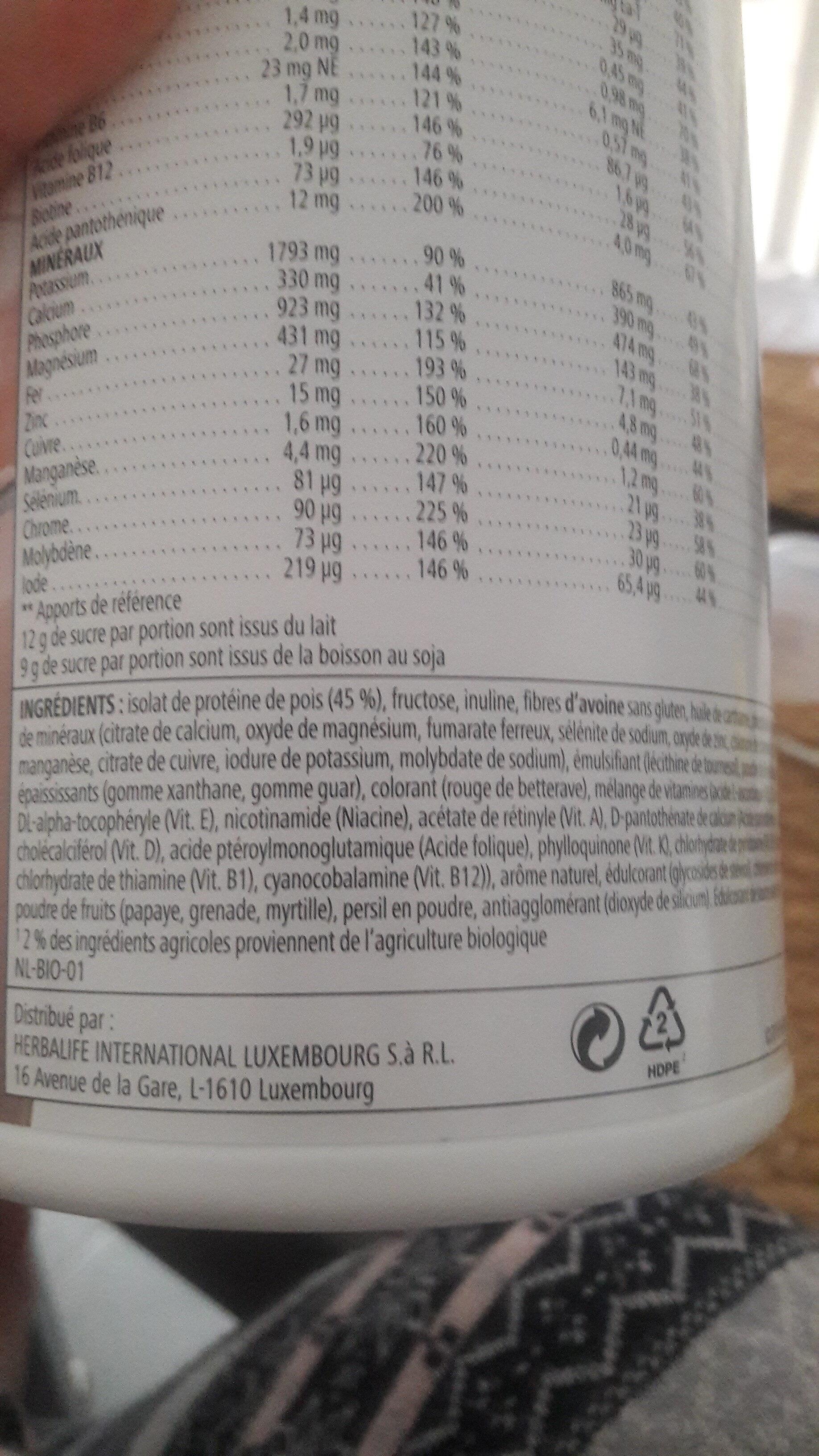 boisson nutritionnelle Formula 1 Strawberry - Ingrediënten - fr
