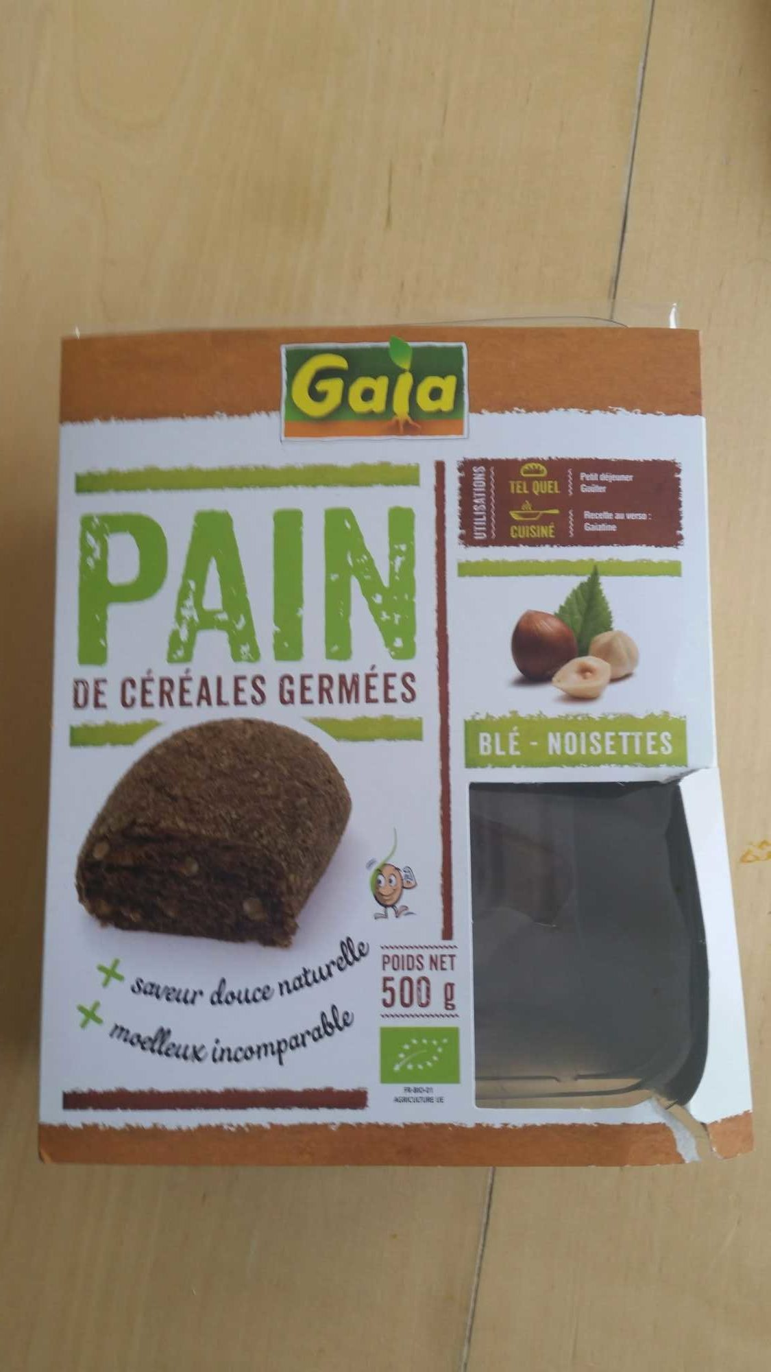 Pain aux cereales germees