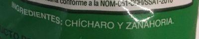 CHICHARO CON ZANAHORIA - Ingrédients - es