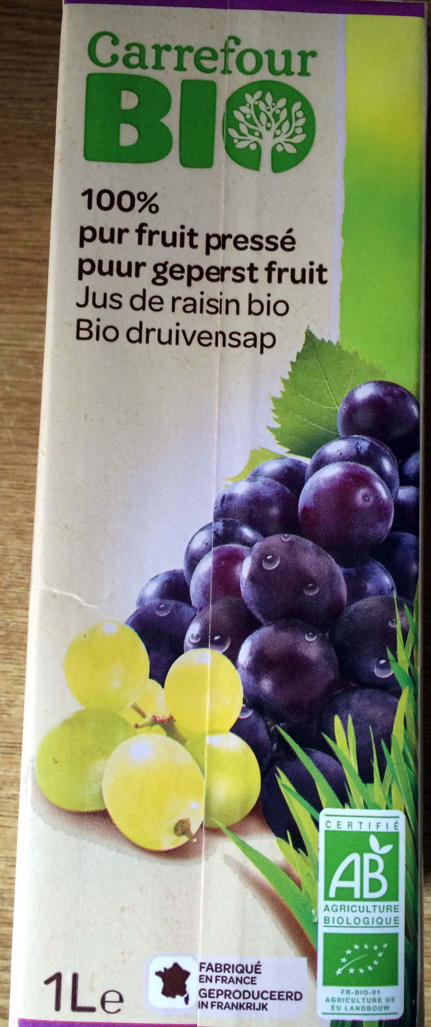 jus de raisin bio 100 pur fruit press carrefour 1 l. Black Bedroom Furniture Sets. Home Design Ideas