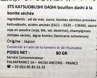 Katsuobushi Dashi - Ingrediënten