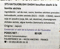 Katsuobushi Dashi - Ingrediënten - fr