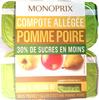 Compote Allégée Pomme Poire - Produit