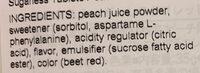 Sugarless Tablets Peach - Ingrediënten - en