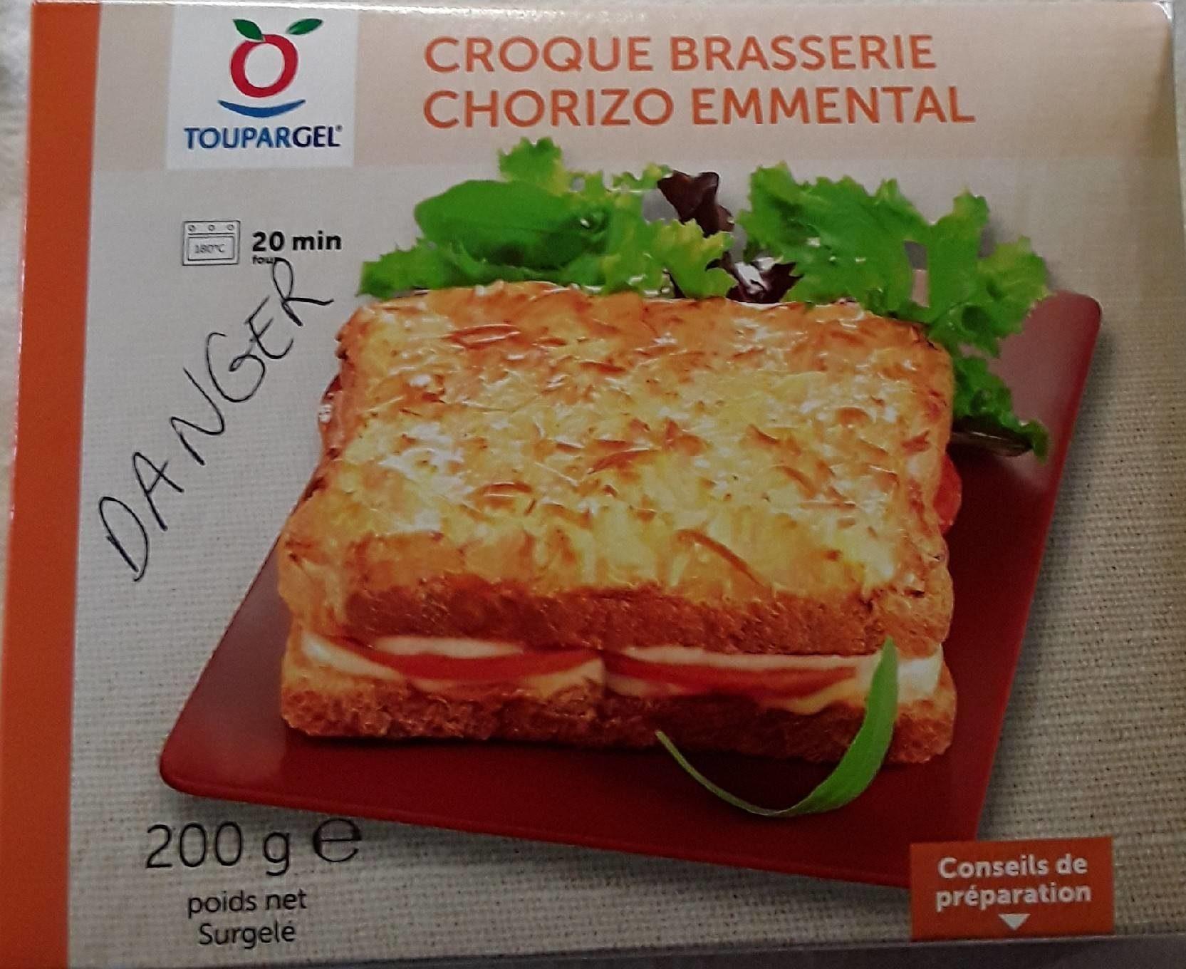 Croque brasserie chorizo emmental - Produit