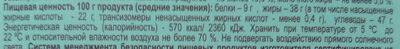 Молочный шоколад с фундуком - Informations nutritionnelles